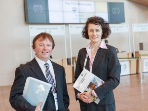Ray Earle, Congress Chair & Maeve Thornberry at the IWA-WCE Congress in the CCD Dublin.